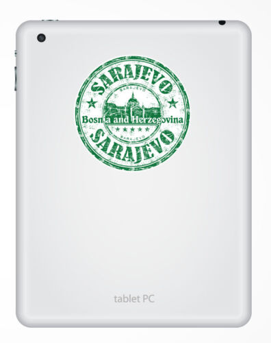 2 x 10cm Sarajevo Bosnia /& Herzegovina Flag Vinyl Sticker Laptop Travel #6797