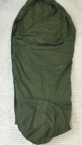 TENNIER-INDUSTRIES-Military-Modular-Sleeping-Bag-Patrol-Green-Hooded-Good-Cond