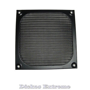 120mm-Aluminium-Fan-Filter-Guard-Black