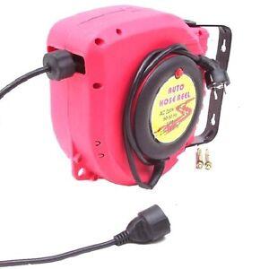 Automatik-Kabelaufroller-14m-Kabeltrommel-Kabelabroller-Verlaengerungskabel-Kabel