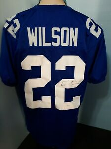 Details about NEW YORK GIANTS DAVID WILSON #22 NFL JERSEY SIGNED JSA AUTHENTIC MEN SZ XL BLUE