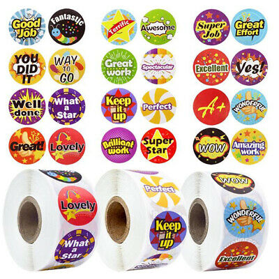 500 Pcs Reward Stickers Motivational For Kids Students Teachers Animals Stickers Ebay
