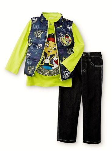 JAKE NEVER LAND PIRATES Vest 3T or 4T $40 Shirt /& Pants Clothing Set Outfit Sz