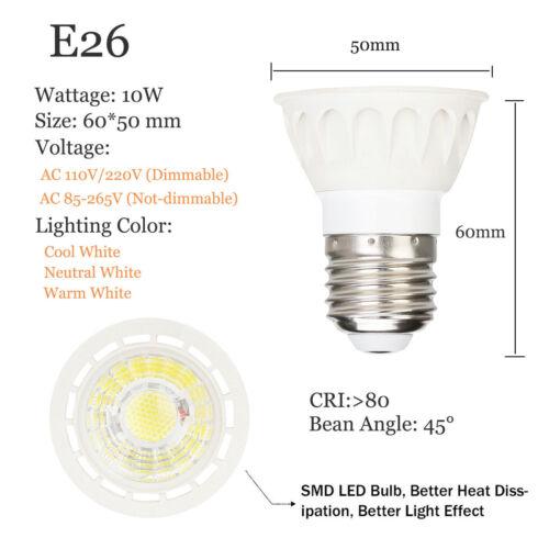 À Variation LED Spot Ampoule 10W E27 E26 MR16 GU10 GU5.3 220V 12V Brillant