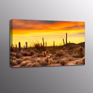Giclee-Canvas-Prints-Golden-Desert-Sunset-Wall-Art-Home-Decor-Painting-Picture