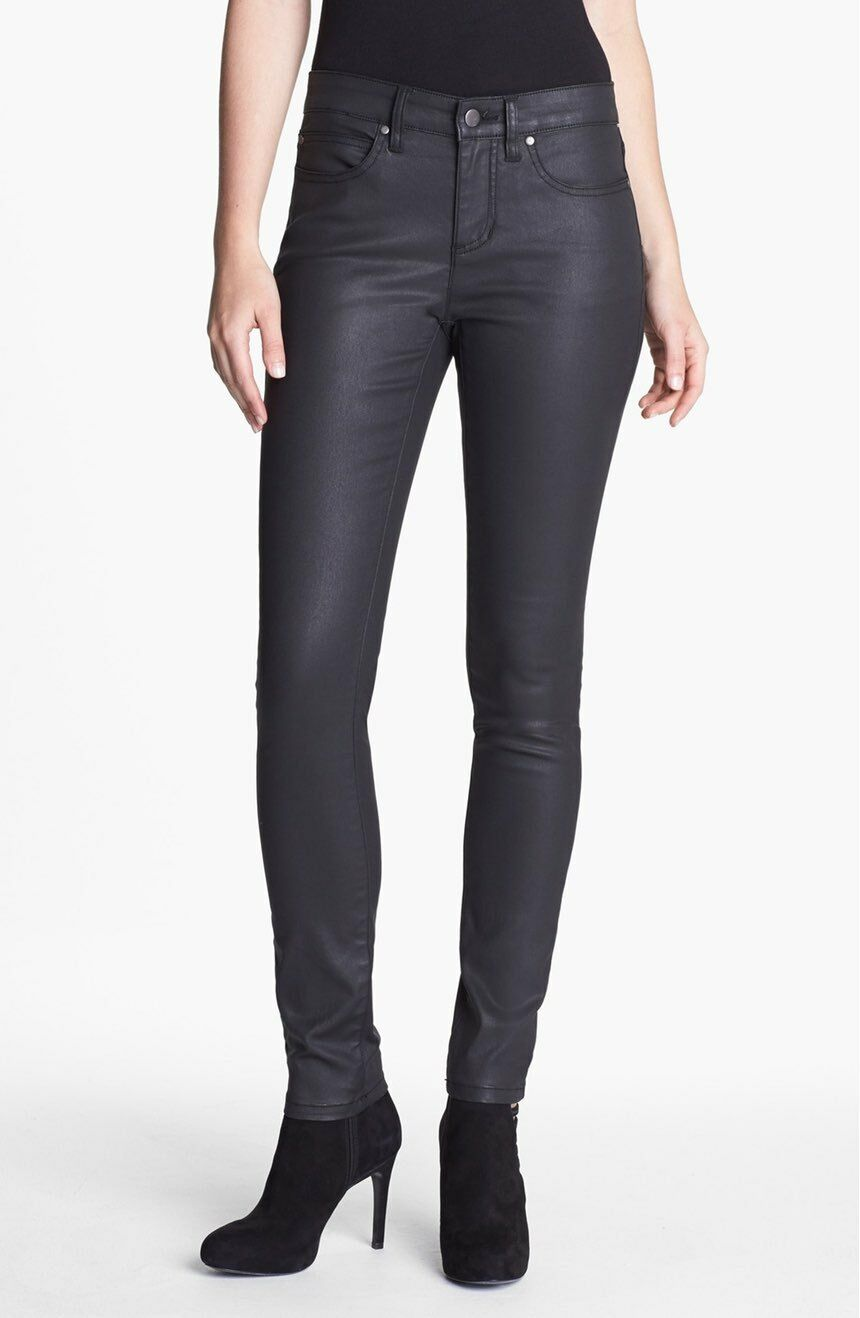 NWT Eileen Fisher Waxed Denim Skinny Jeans Size 6 (Retail )