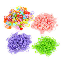 100PCS Plastic Knitting Craft Crochet Locking Stitch Markers Needle Clip Holder