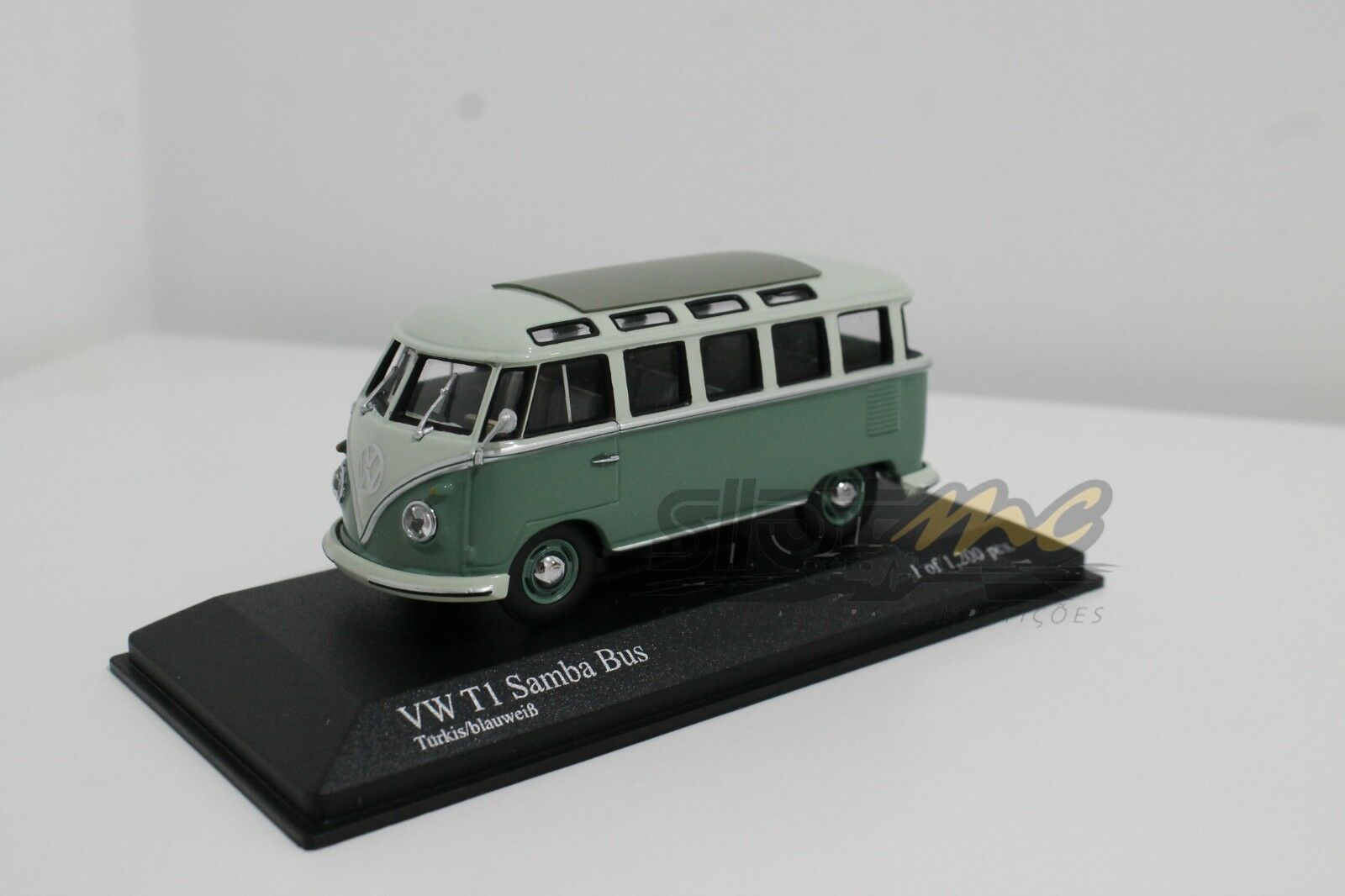 Minichamps 430052306 VW T1 Samba Bus 1961 Turchese/blubianca 1/43  NEW