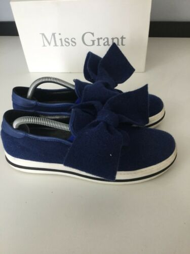 Damen Miss Schuhe Flache Bogen Dunkelblauer 7 Capri für Eu Größe ... Produktqualität