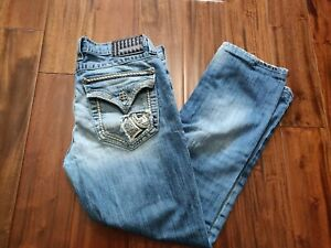 Affliction Ace Straight Blue Jeans Men's 32 Waist 27 Inseam