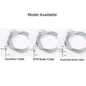 BRAKE CABLE 10x MOUNTAIN BIKE CYCLE INNER WIRE REAR BARREL END BICYCLE