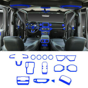 17pcs Interior Decor Cover Trim Full Set Accessories For Jeep Wrangler JL 2018+