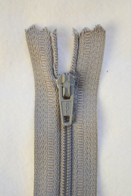 13cm Fossil Grey Dress Zip