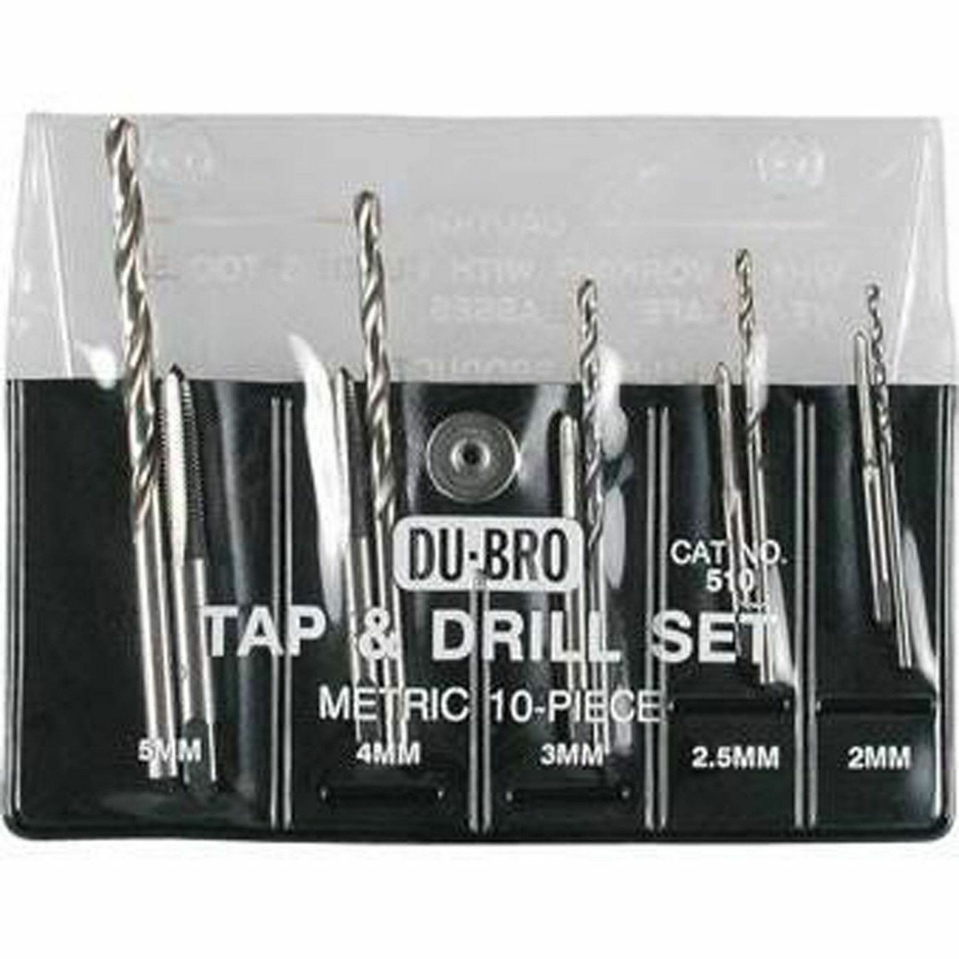 Dubro Products - 10pc Metric Tap & Drill Set