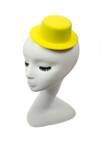 "5/"" Yellow Mini Top Hat Fascinator Base Available in 14 Colors"
