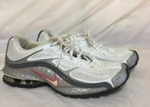 690f4a448 Nike Reax Run 5 Womens Running Shoes Sz 7.5 Sneakers White Silver ...