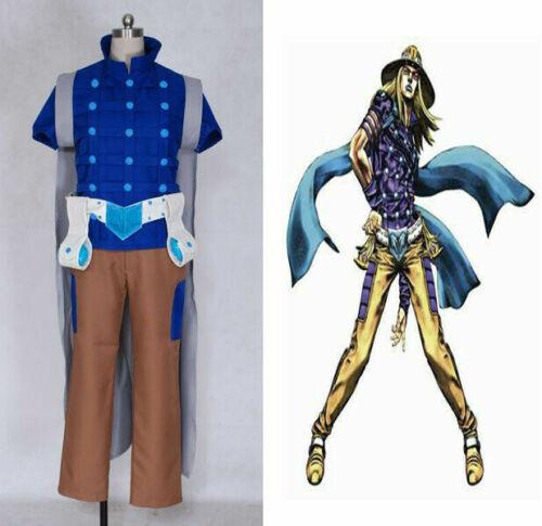 JoJo/'s Bizarre Adventure 7 Gyro Zeppeli Costume cosplay Uniform Anime Party Hot