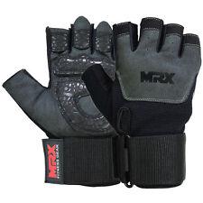 Weight Lifting Gloves Training GYM GLOVE Gel Amara Long Grip Fitness Strap, XL