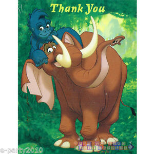 Image Is Loading TARZAN THANK YOU NOTES 8 Birthday Party Supplies