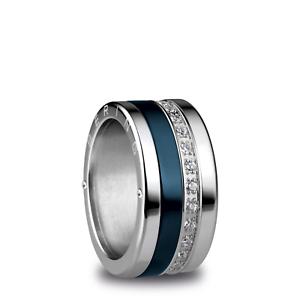 BERING Ring Komplett Breit 520-10 + 556-17 + 554-70 Kombiring Zirkonia Keramik