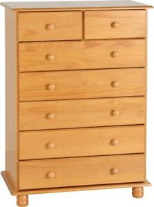 Image Is Loading Sol 5 2 7 Drawers Chest Antique Pine