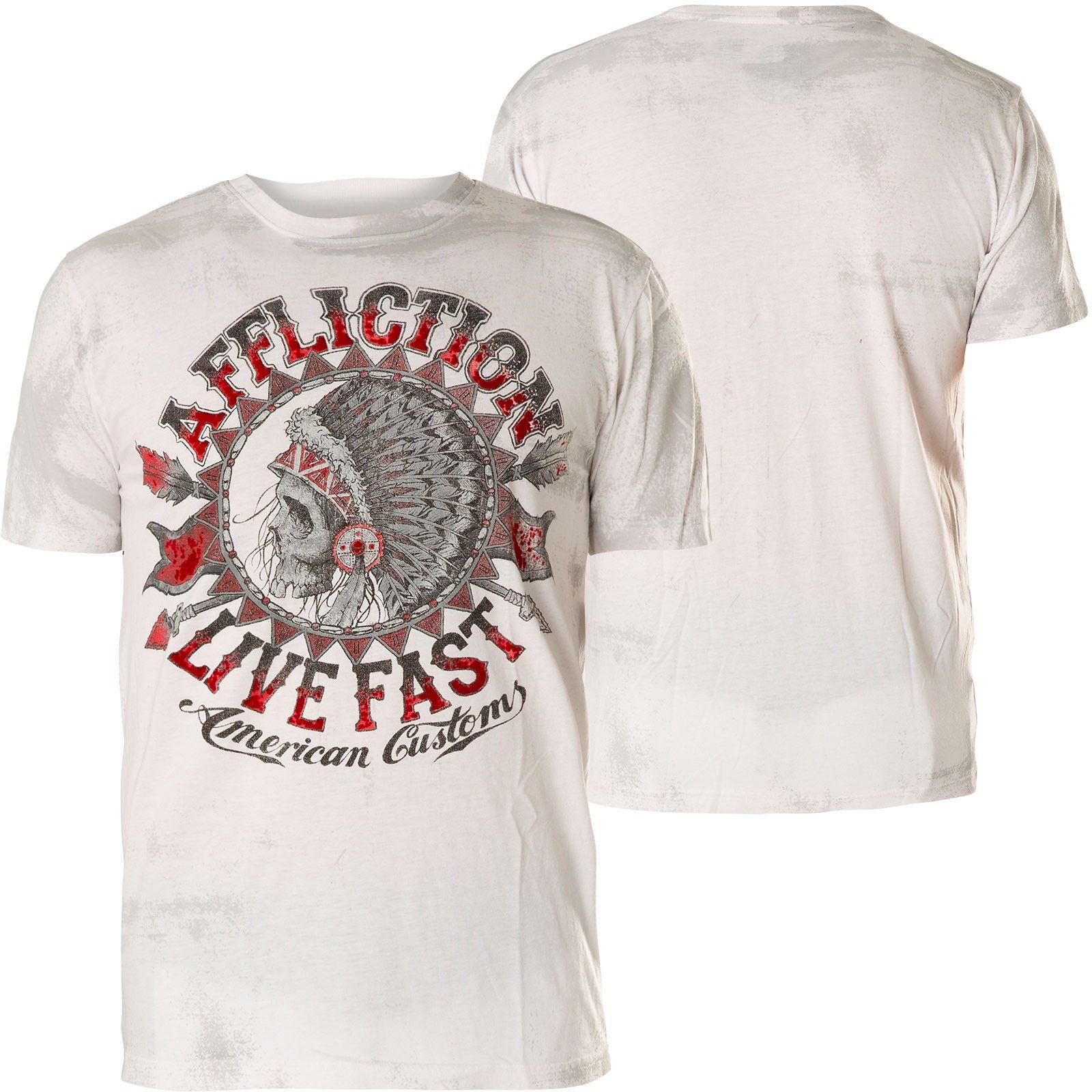 AFFLICTION T-Shirt AC Stampede Weiß T-Shirts