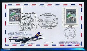 """99421) LH A380 Taufe """"WIEN"""" SF Wien - Frankfurt 22.8.2011 2x PM Zul.France - Bünde, Deutschland - 99421) LH A380 Taufe """"WIEN"""" SF Wien - Frankfurt 22.8.2011 2x PM Zul.France - Bünde, Deutschland"""