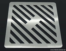 """15"""" Square Solid Stainless steel metal drain cover gully grid grate"""
