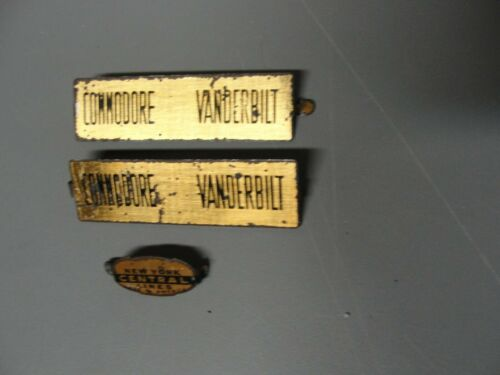 MARX VANDERBILT SIDE  BRASS STYLE NAME//NOSE  PLATES ORIGINAL STK536-2