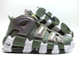 the best attitude 3a10a 82d77 Image is loading NIKE-AIR-MORE-UPTEMPO-DARK-STUCCO-WHITE-SIZE-