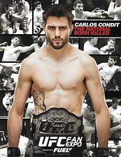 Carlos Condit Official UFC 8.5x11 Photo Promo Card Fan Expo Picture w/ Belt 143