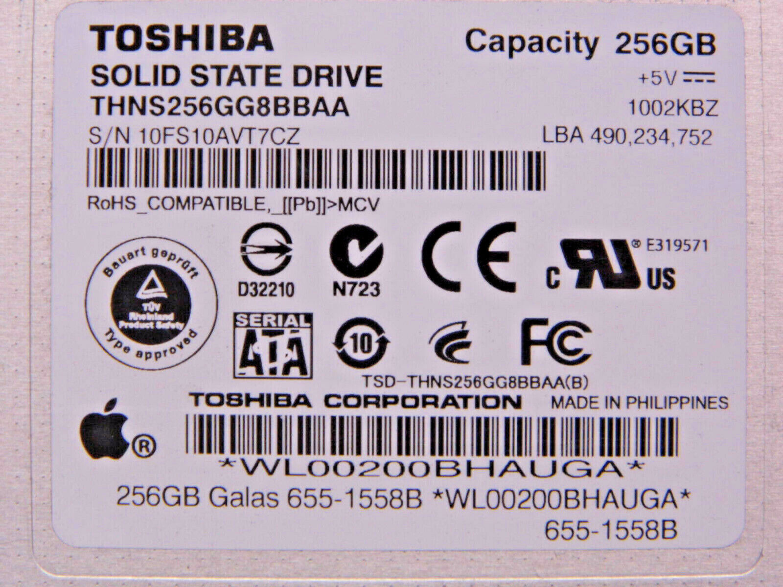 256GB Solid State Drive SATA 2.5