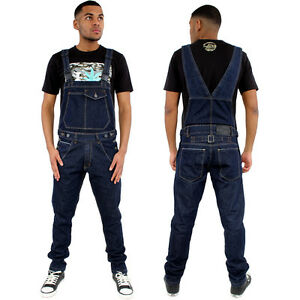 dfb88a4599b Image is loading Streetwear-Premium-Slim-Fit-Tapered-Dungarees-Overalls- Jumpsuit