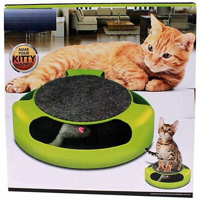 Scratcher Round Play Cat Game Board Cat Scratch Pad with Mouse Chaser Best Kitty