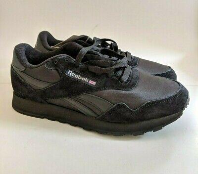 Reebok Royal Nylon Classic BLACK//Black BD1554 Casual  Comfort Sneakers for MEN
