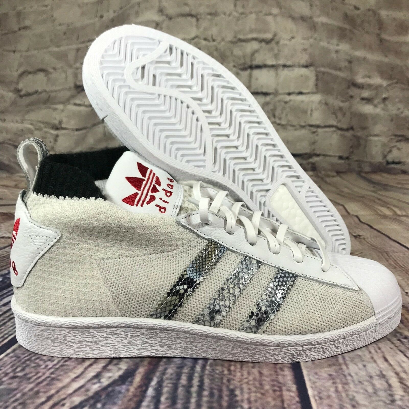 Adidas Originals UA & SONS ULTRA STAR STAR STAR United Arrows white snake skin B37111 d45ba1