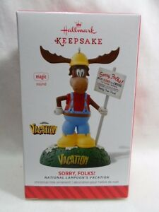 HALLMARK 2014 SOUND ORNAMENT~NATIONAL LAMPOON/'S VACATION~SORRY FOLKS!