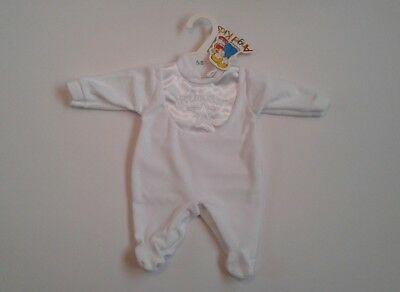 Baby boys clothes velour baby grow tiny baby 5-8 lbs 0-3 months BNWT