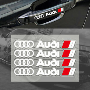 4-Pcs-White-S-Line-Car-Door-Handle-Sticker-Sport-Badge-Dashboard-All-Model-S51