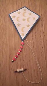 1/12 dolls house miniature Handmade Paper & wood Kite Nursery toy Shop Gift LGW