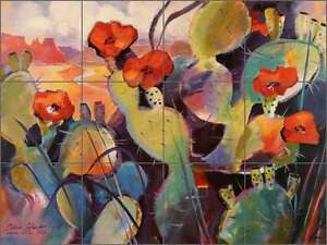 Cactus-Tile-Backsplash-Ceramic-Mural-Cullar-Southwest-Landscape-Art-WC118