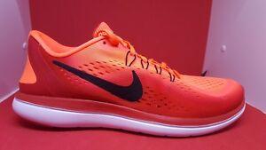 Flex Homme 2017 Chaussures de 800 pour Nike Rn orange Sz 10 898457 noir course 9 twwUTgqR