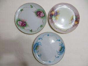 Image is loading 3-Rare-Antique-C-Durflinger-Hand-painted-Collector- & 3) Rare Antique C.Durflinger Hand painted Collectoru0027s Porcelain ...