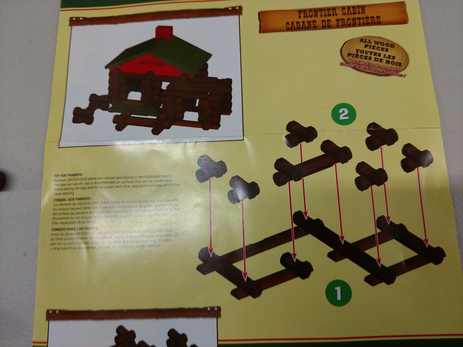 THE THE THE ORIGINAL LINCOLN LOGS CLASSIC EDITION FRONTIER CABIN 86PC cf4f36