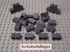 LEGO Lot of 25 Black 1x2 Grill Profile Brick Pieces