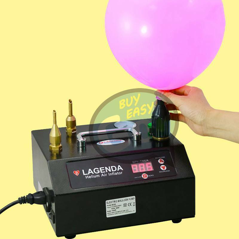 Soplador Bomba de aire para inflar globos eléctrica portátil Doble Boquilla inflador de relleno