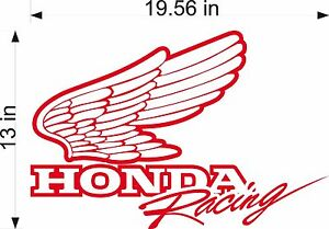 Honda Racing Logo 20 Cut Vinyl Vehicle Motorcycle Graphic Decal