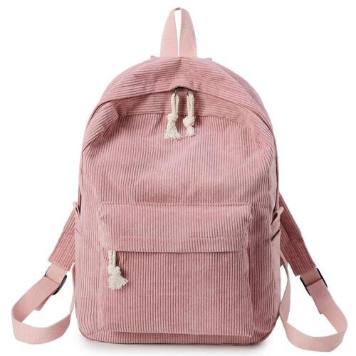 Women/'s Backpack Knapsack Female Corduroy School Fabric Backpack Girls Rucksack