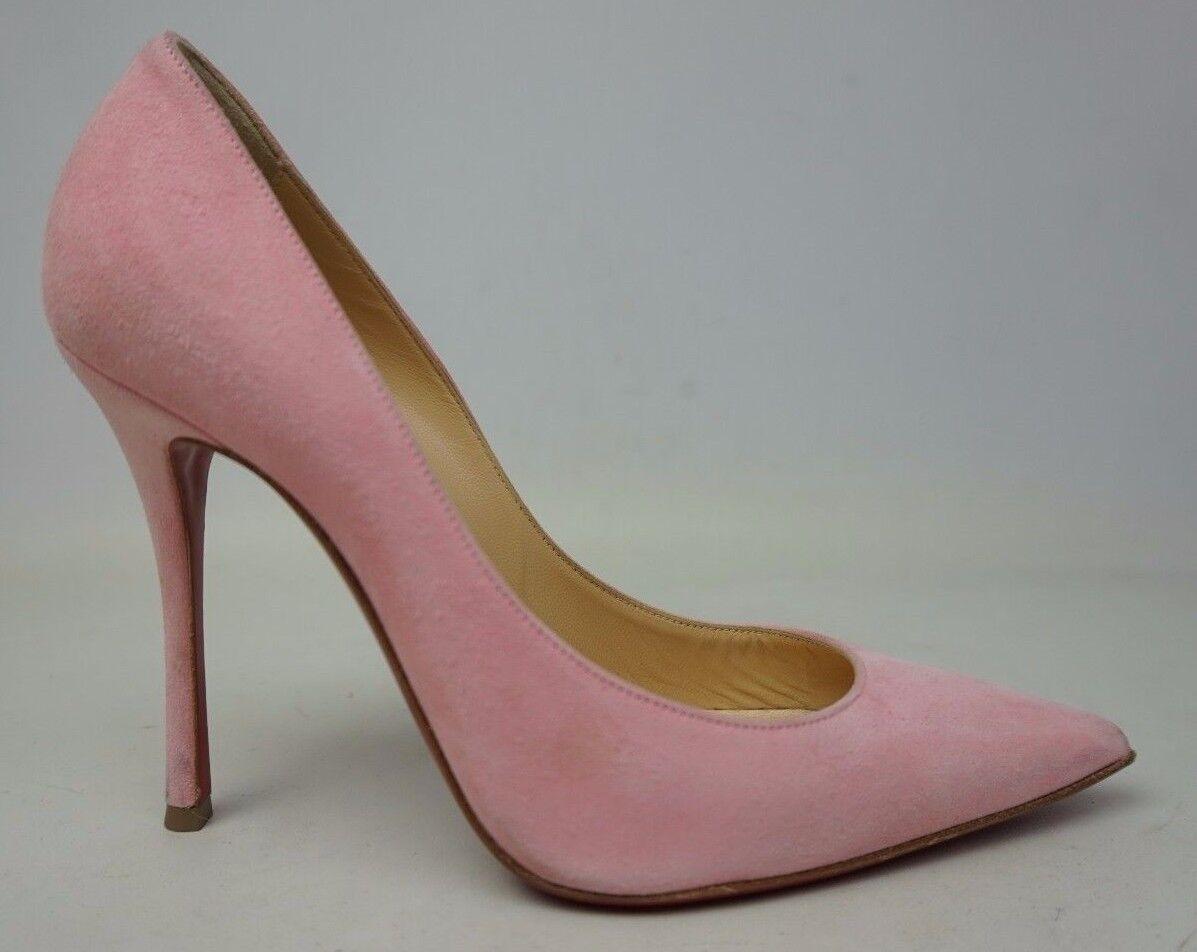 Christian Louboutin Pink Suede Decoltish Pointed Toe Pumps Pumps Pumps Size 37 EU   7 US dd896b