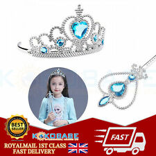 Hair Piece Gloves Wand Set UK Seller Lovely Frozen Queen Princess Elsa Crown